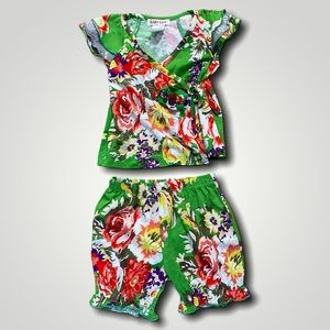 BABY NAY FLORAL TWO PIECE OUTFIT 12M